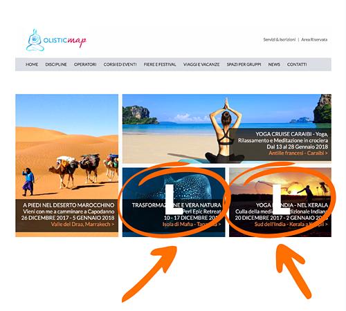 Annuncio L in home page