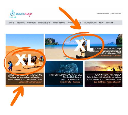 Annuncio XL in home page