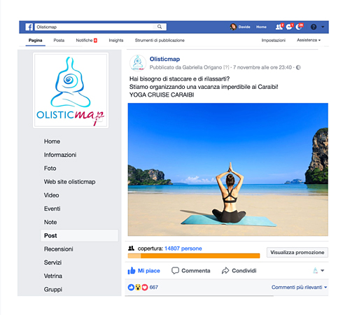 Post facebook sponsorizzato
