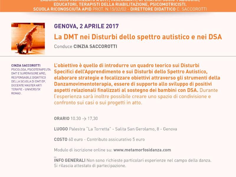 OlisticMap - La DMT nei Disturbi dello spettro autistico e nei DSA