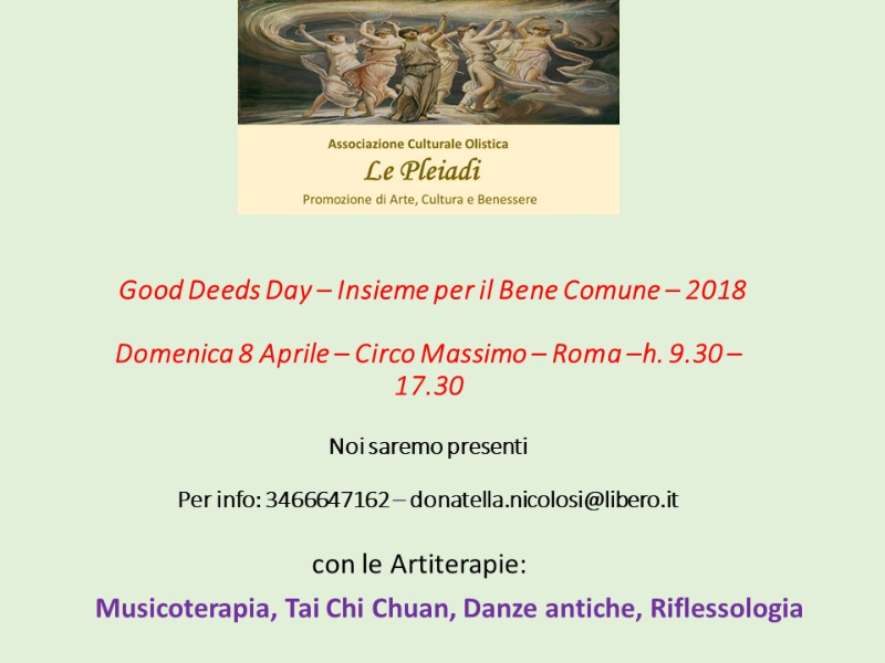 Olisticmap - Good Deeds Day 2018 - Circo Massimo - Roma
