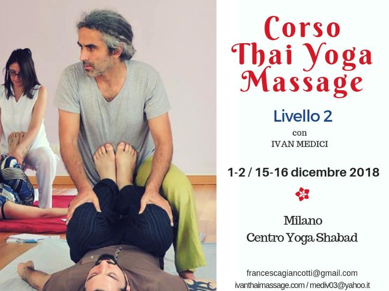 Olisticmap - Corso di Thai yoga massage Livello 2 - Milano