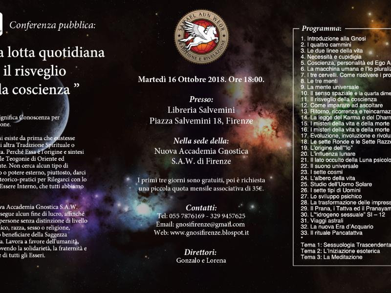 Olisticmap - Corso di Meditazione: La Gnosi Universale - Inizio 16 Ottobre 2018