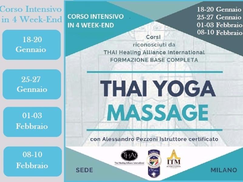 Olisticmap - Formazione Base Completa - Thai Yoga Massage - Milano 2019