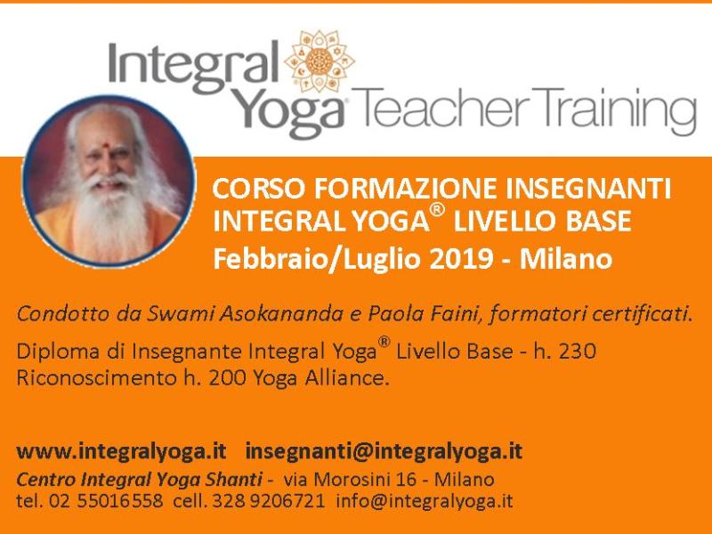 Olisticmap - CORSO DI FORMAZIONE INSEGNANTI - INTEGRAL YOGA  - LIVELLO BASE