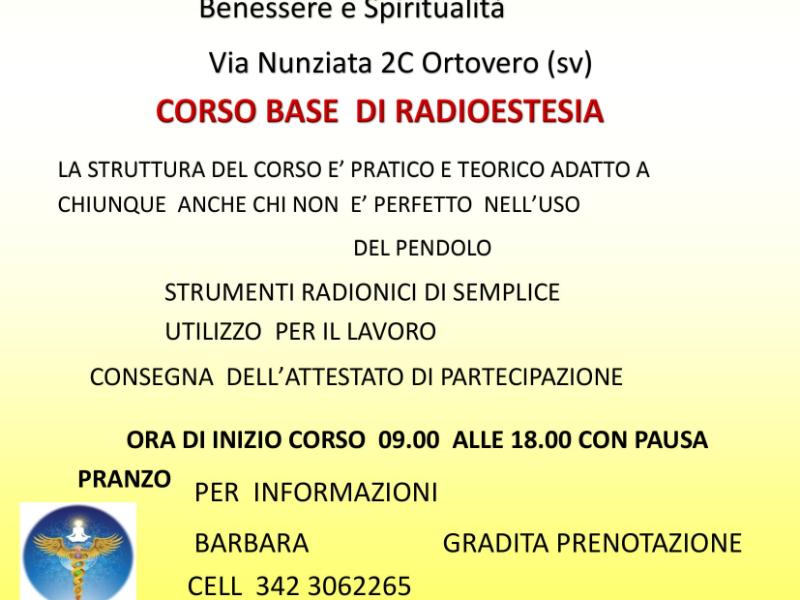 Olisticmap - Corso Base di Radiostesia
