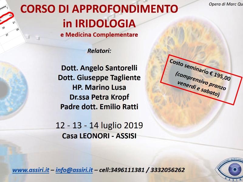 Olisticmap - CORSO DI APPROFONDIMENTO IN IRIDOLOGIA e Medicina Complementare