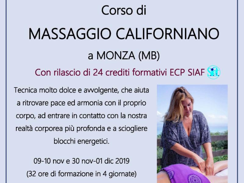 OlisticMap - CORSO DI MASSAGGIO CALIFORNIANO A MONZA (MB)