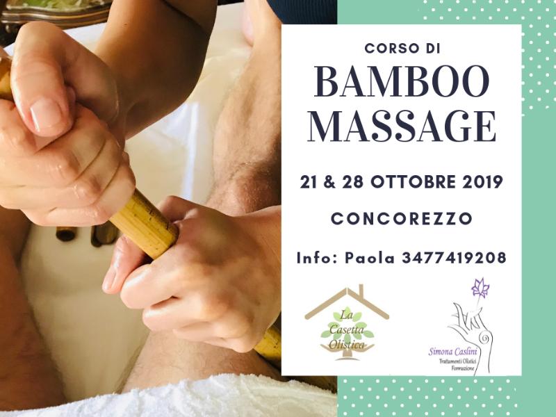 Olisticmap - Corso Bamboo Massage @ Concorezzo