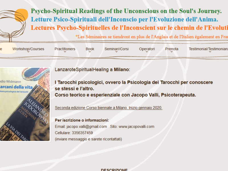 Olisticmap - Corso, i Tarocchi Psicologici. Seconda edizione.