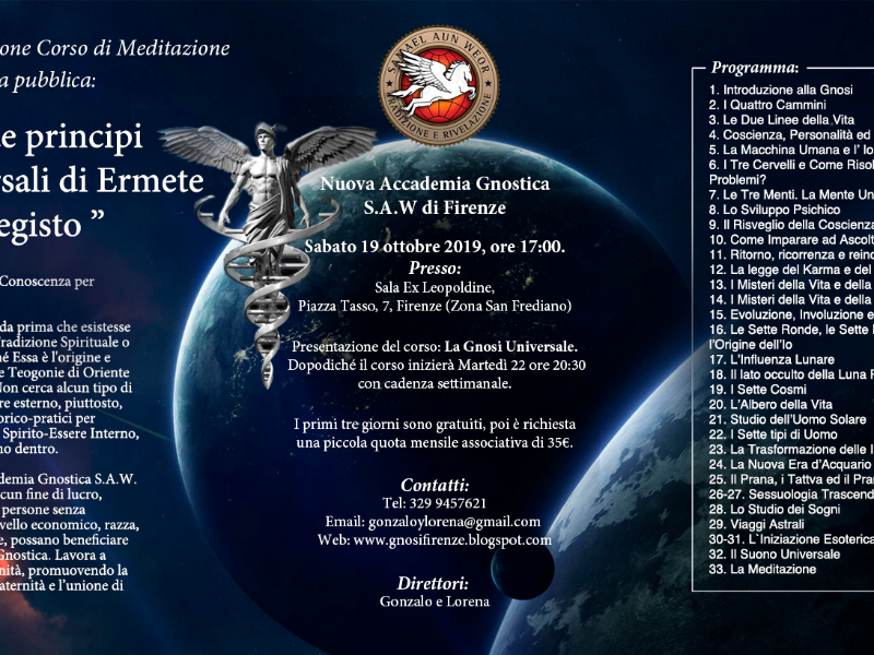 Olisticmap - CORSO Annuale dI MEDITAZIONE: La Gnosi Universale