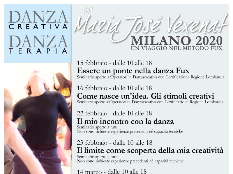 Olisticmap - Milano'20 Seminari Danzacreativa/Danzaterapia con Maria Josè Vexenat