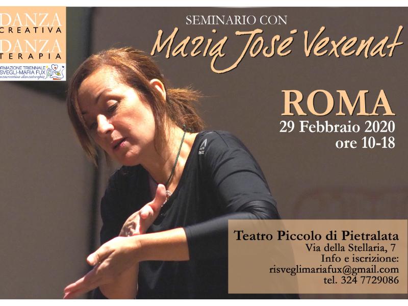 Olisticmap - Roma'20 Seminario Danzacreativa/Danzaterapia con Maria Josè Vexenat