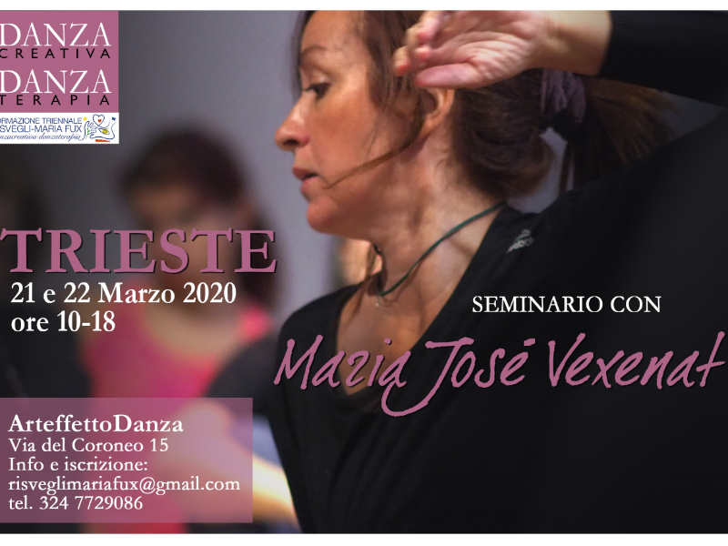 Olisticmap - Trieste'20 Seminario Danzacreativa/Danzaterapia con Maria Josè Vexenat