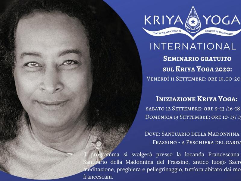 Olisticmap - Seminario gratuito sul Kriya Yoga - Iniziazione Kriya Yoga