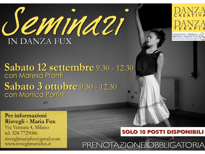 Olisticmap - Seminari Danza Metodo Fux - Settembre e Ottobre 2020