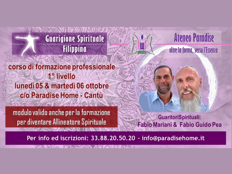 Olisticmap - Corso per Guaritore Spirituale - 1° livello