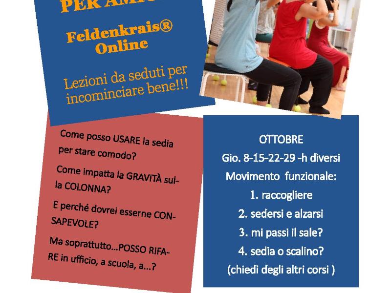 Olisticmap - Metodo Feldenkrais® e le Lezioni da praticare seduti sulla SEDIA