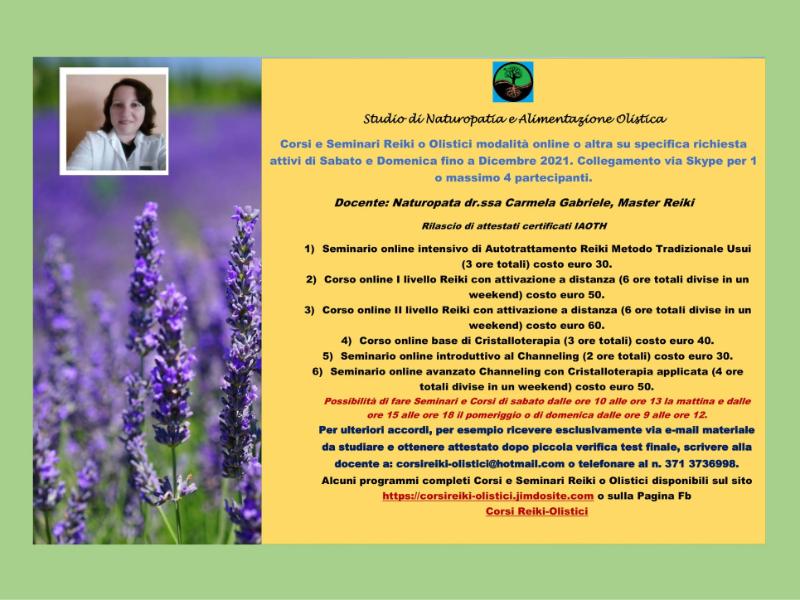 Olisticmap - Corsi e Seminari Reiki o Olistici