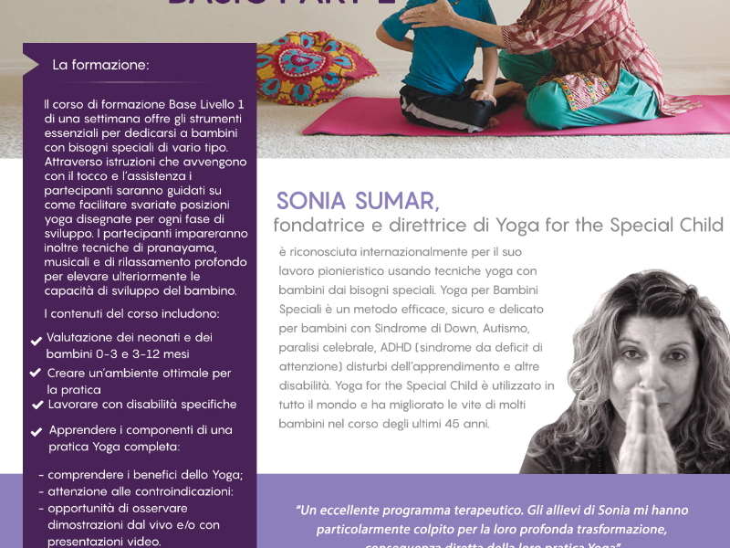 OlisticMap - CORSO DI FORMAZIONE YOGA FOR THE SPECIAL CHILD